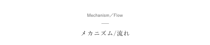 メカニズムと流れ